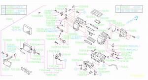 Subaru Forester Hvac Floor Mode Door Actuator  Motor
