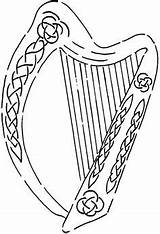Harp Celtic Irish Stamps Music Stencil Crafty Stencils Craft Fun Sheets Coloring Pages Stamping Stickers Language Information Embroidery Hover Zoom sketch template