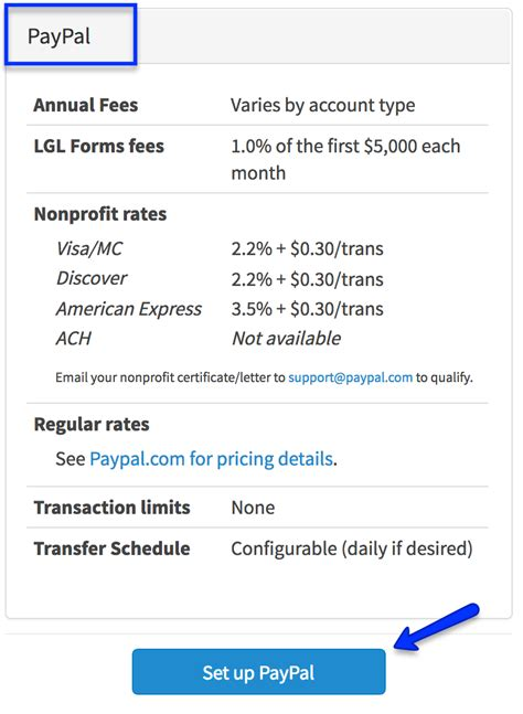 paypal sign up form enable your lgl forms account to accept paypal payments