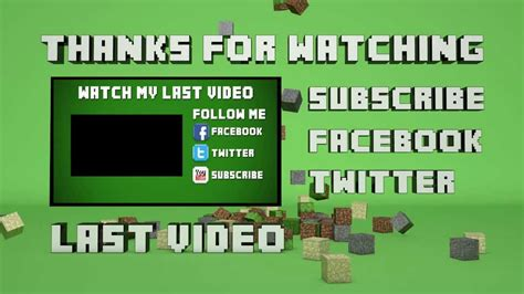 Template #29  Minecraft Outro Falling Blocks (cinema 4d