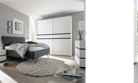 chambre complete hello chambre a coucher complete blanc et anthracite mariela