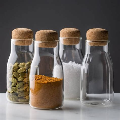 Buy Spice Jars by Modern Spice Jar Glass With Cork 4 75 Quot H The Reluctant