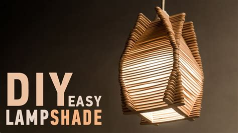 easy diy ideas  homedecor making craft stick lampshade