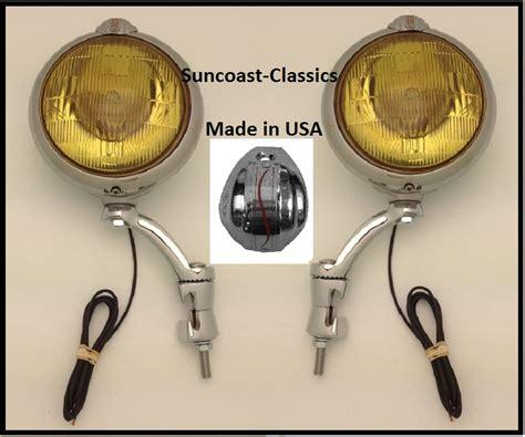 Studebaker Headlight Wiring by Studebaker Fog Lights Made In Usa Studebaker Logo 6 Volt 6