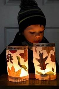 leaf lantern family crafts