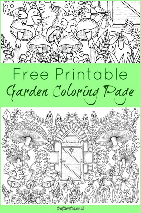 printable gardening adult coloring pages money