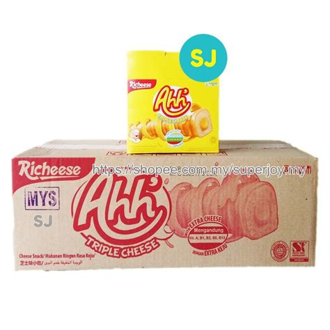 Richeese Ahh Cheese 5 5 Gr nabati ahh cheese 1 shopee malaysia