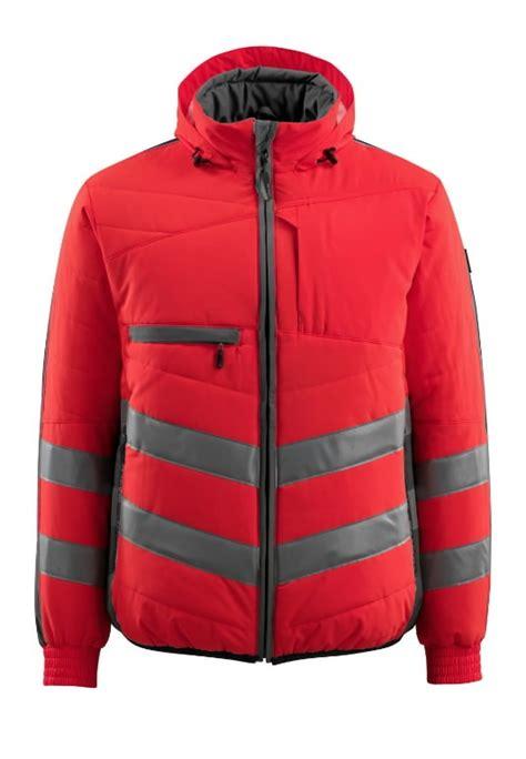 Augstas redzamības ziemas jaka Dartford, sarkana/pelēka M ...