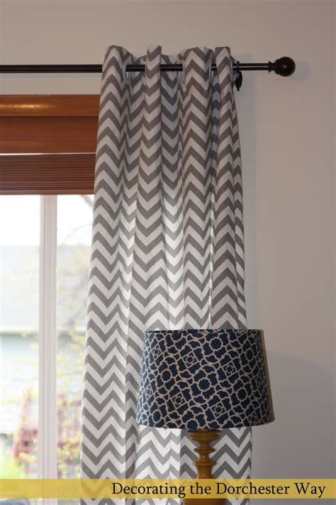 Grey And White Chevron Curtains by Decorating The Dorchester Way Chevron Curtains