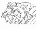 Coloring Spirited Away Ghibli Studio Line Cool Printable Sheets Miyazaki Colouring Haku Sketch Getdrawings Adult Desenhos Dragon Farm4 Drawing Staticflickr sketch template