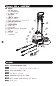 k 228 rcher k 330 m electric power high pressure washer owners manual
