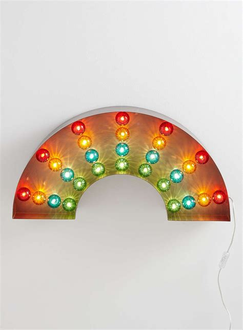 multi coloured rainbow marquee wall light bhs home accessories indoor wall lights wall