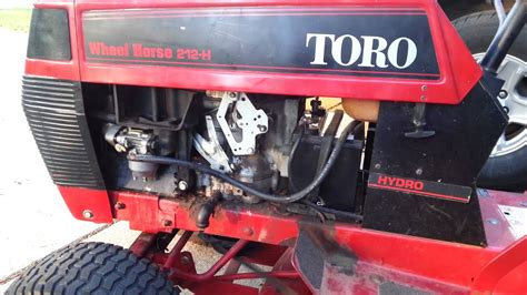 toro wheel horse   finally running youtube