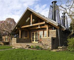 Rustic Cabin Style House With Stone Decoration