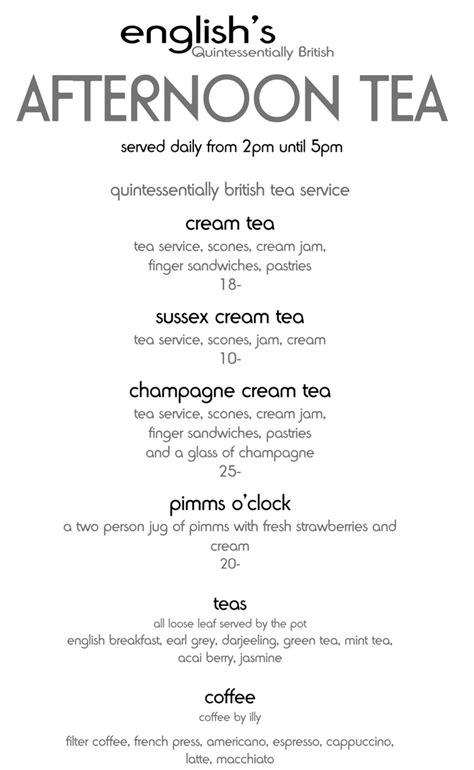 tea menu betty s tea rooms menu tea time baristas pinterest english new life and las vegas