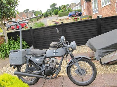 German Ww2 Replica Motorcycle Based On Honda Cg 125 Clone