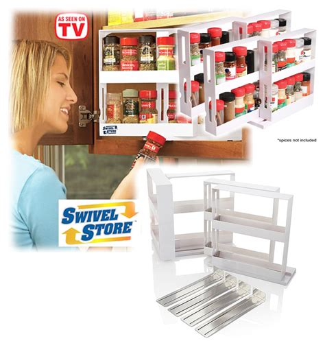 Swivel Store Spice Rack by Swivel Store Deluxe Spice Rack Storage System Cabinet