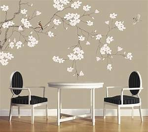 Wall papers home decor,Magnolia flower Chinese style ...