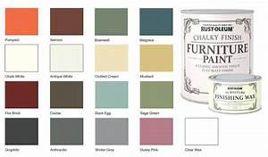 Rust Oleum Chalk Chalky Colour Chart PAINTING