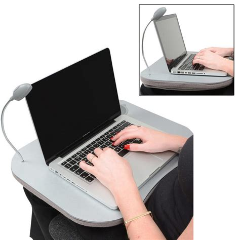 Cushioned Desk With Cup Holder by Supersoft Cushioned Portable Laptop Desk Tray With