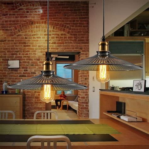 pendant lights vintage industrial kitchen fixture rustic