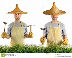 Chapeau De Paille Homme : homme avec le chapeau de paille asiatique image stock ~ Nature-et-papiers.com Idées de Décoration