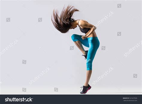 One Cool Beautiful Young Fit Modern Stock Photo 521627026