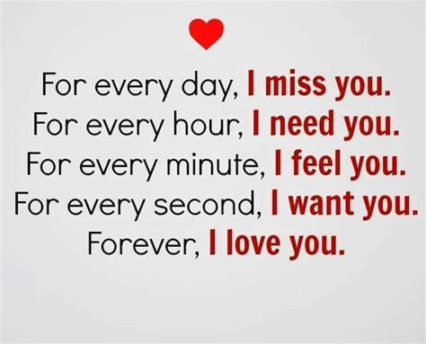 Miss U Love Quotes Forever I Love You Every Day Never I Miss You Short