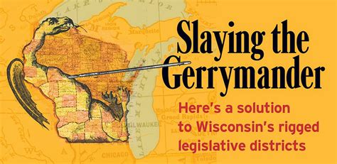 wisconsin legislative reference bureau slaying the gerrymander isthmus wisconsin