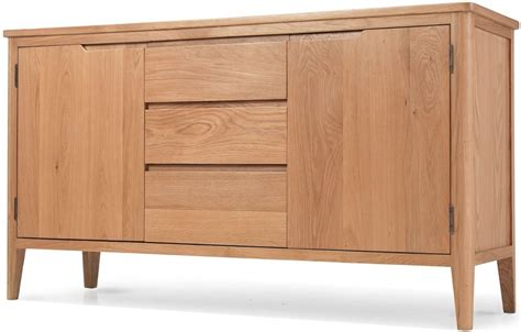 Oak 2 Door Sideboard by Buy Asby Oak 2 Door 3 Drawer Large Sideboard Cfs Uk