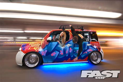 stanced nissan cube modified nissan cube fast car