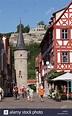 Maintor gate and Karlsburg castle ruin, Karlstadt, Main ...