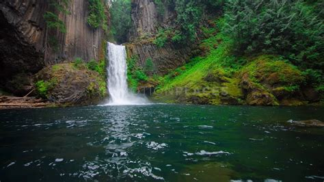 oregon waterfall  stock footage motion places