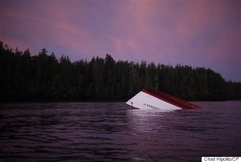 Boat Sinking Vancouver by Tofino Whale Boat Knocked By Wave
