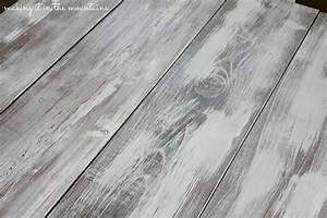How to Whitewash Wood :: Making over our Pottery Barn