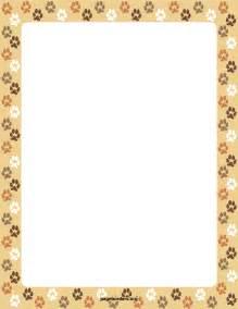Dog Paw Print Border Clip Art
