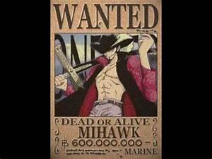 One Piece Wanted Posters New World - YouTube
