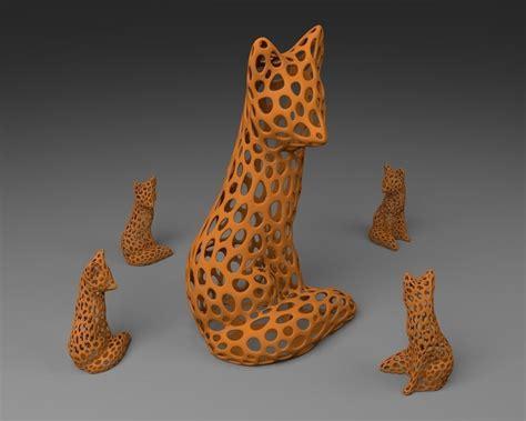 fox voronoi style   model  printable stl