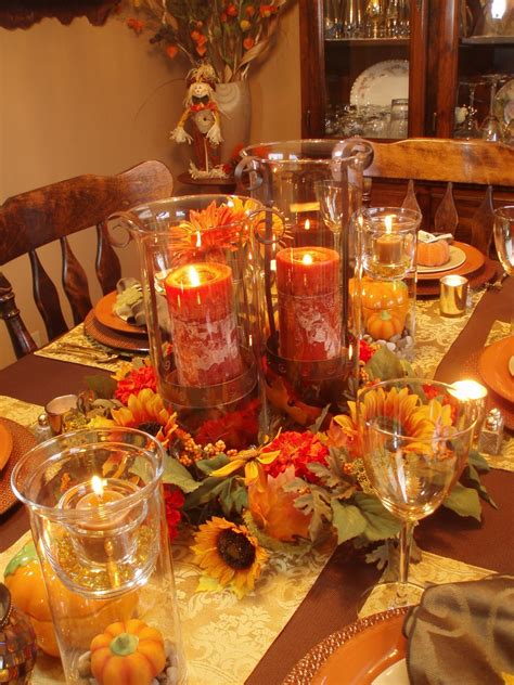Festive Fall Tables autumn tablescape thanksgiving table fall decor