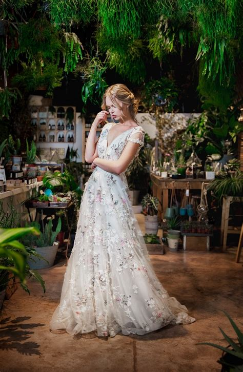 boldly boho embroidered wedding dresses  colourful