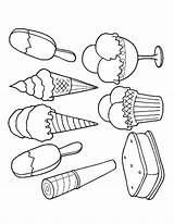 Ice Cream Coloring Pages Scoop Colouring Printable Adult Drawing Food Sandwich Pop Print Sheets Easy Draw Summer Cupcake Sandwiches Getdrawings sketch template