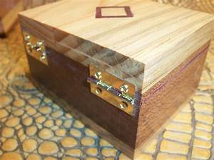 Buy a Hand Made Wooden Trinket Box With Hinge Lid And