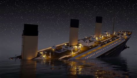 titanic sinking animation 3d history re lived real time animation of the titanic