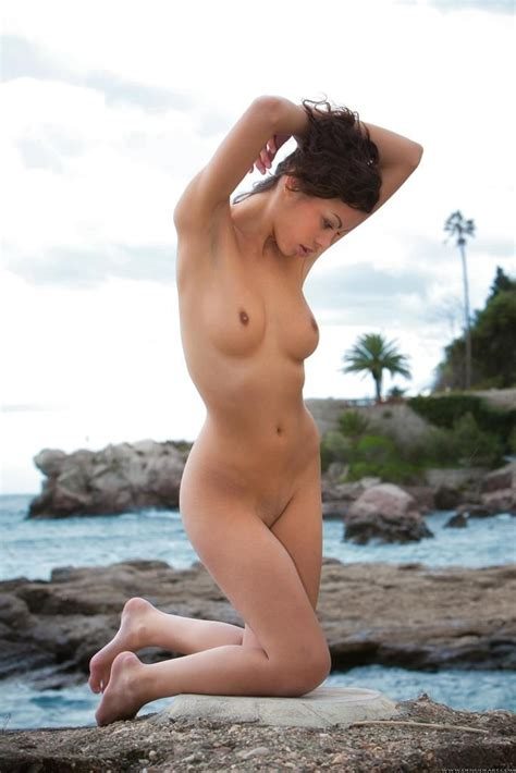 Beautiful Model Posing Nude On The Beach