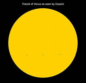Cassini: The Grand Finale: Transit of Venus, as Seen by ...