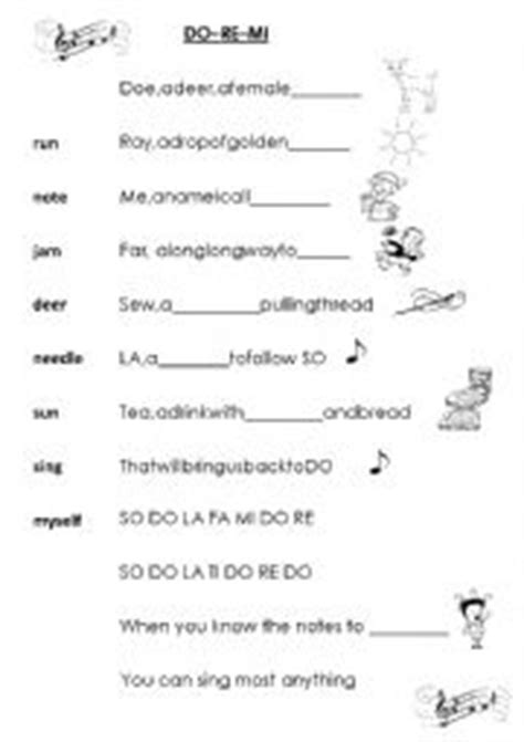 Let's start at the very beginning a very good place to start when. Do Re Mi - The Sound of Music - ESL worksheet by misiek78