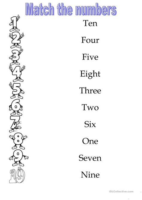 numbers 1 10 worksheet free esl printable worksheets made by teachers