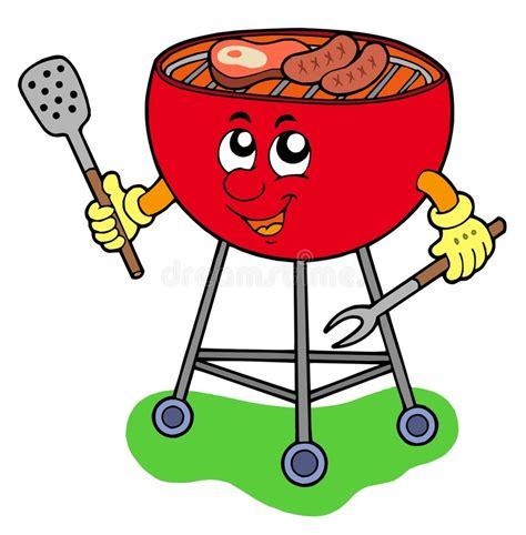 xl cuisine dessin animé de barbecue illustration de vecteur