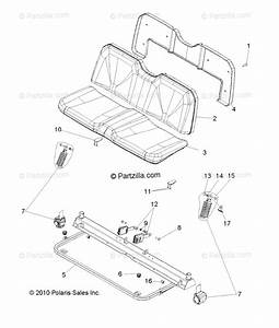 Polaris Side By Side 2011 Oem Parts Diagram For Body  Seat