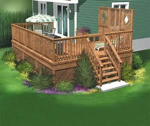 Le Design De Cette Terrasse En Bois Permet Aux Occupants